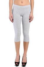 TheMogan Plus Size Casual Basic Stretch Cotton Cropped Leggings Capris