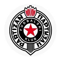 FK PARTIZAN BELGRAD STICKER CAR BUMPER BUTTON BELGRADE BEOGRAD Партизан SERBIA !