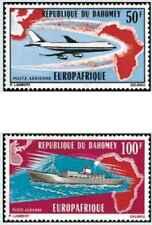 Timbres Transports Bateaux Avions Dahomey PA147/8 * lot 26816