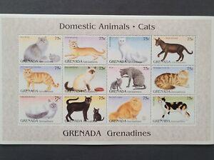 Genada-Grenadines 1995 /  Domestic Animals - Cats / minisheet MNH