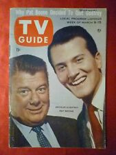 New England March9 1957 TV Guide PAT BOONE Godfrey Jim Bowie Lily Pons Zane Grey