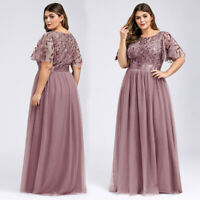 Ever-Pretty US Embroidery Long Evening Prom Dresses Cocktail Bridesmaid Gowns