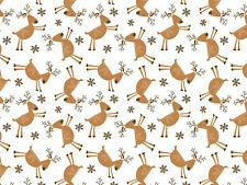 240 Sheets - Christmas Reindeer & Snowflakes Tissue Paper # 753 - Bulk Pricing*