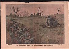 WWI Poilus Tranchée Piège à Loup Deutsches Heer Wolf Trap War 1915 ILLUSTRATION