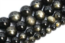 Natural Golden Obsidian Beads Grade AAA Round Gemstone Loose Beads 6/8/10MM