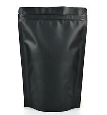 "100 PCS Black Matte Foil Lined Stand Up Zip Bag Pouches 4 oz 5"" X 7 3/4"" Medium"