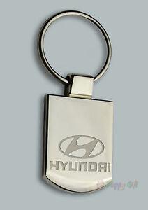 Engraved HYUNDAI Design keyring BOXED Personalised Free - Metal Key ring