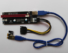 PCI-E Express USB3.0 1x to16x Extender Riser Card Adapter SATA Power Cable 2017