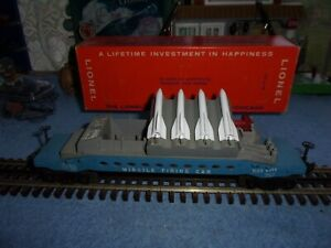 Lionel Postwar 6544 Missile Firing Trail Car & Nice Original Box