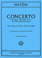 Hayden-Concerto In D Major-Two Piano-Four Hands International-Music Book-New!