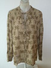 TUNIKA Longbluse Bluse - khaki blumig -  * NOA NOA * - Gr. XL