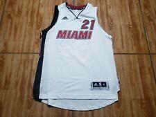 Adidas Hassan Whiteside Miami Heat Jersey Youth Medium Kids White Basketball NBA