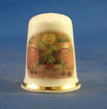Birchcroft China Thimble -- Bill and Ben The Flower Pot Men -  Free  Gift Box