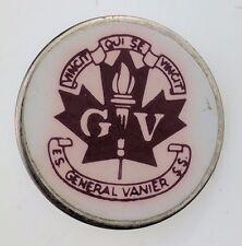 General Vanier Intermediate School Secondary Pin Logo GVSS GVIS Crest Logo