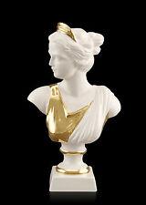 Antique Vénus Céramique Porcelaine Buste Bust Statue à la main 24 ct or Italy