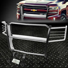 FOR 14-18 CHEVY SILVERADO 1500 STAINLESS STEEL FRONT BUMPER GRILLE BRUSH GUARD