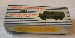 DINKY MILITARY MODEL BOX  ** MEDIUM ARTILLERY TRACTOR - BOX ONLY ** No 689 -USED