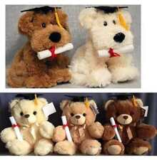 "12.5"" Graduation Teddy Bear & Poppy Dog Eating Diploma ""Graduation Memory"""