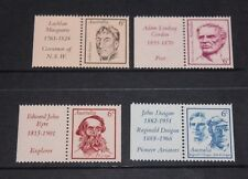 AUST 1970 FAMOUS AUSTRALIANS BOOKLET ISSUES SET OF 4 WITH TABS , VERY FINE M/N/H