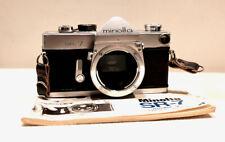 Vintage MINOLTA SR-7 35mm film SLR camera body only with book
