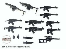 Set 15.3 Russian Weapons (Black), RusArms, Weapons for LEGO minifigures, new