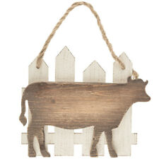 Cow & Fence Wood Farmhouse Wall Decor
