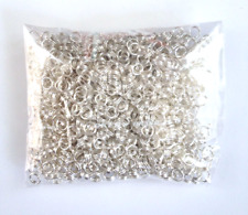New 1000 pcs Silver Plated Split Open Double Loop Jump Rings 4mm Jewelry 35 Ring