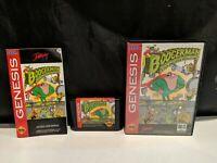 Boogerman: A Pick and Flick Adventure Sega Genesis Complete in Box