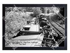 Historic Deep River Logging Co. - Deep River, Washington, wreck Train Postcard 2