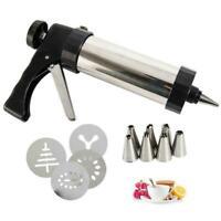 22pcs/set Stainless Steel Biscuit Cookie Icing Cake Set Gun Piping G7U1