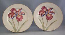 Fitz & Floyd La Belle Fleur Luncheon Plate Lot Of 2 Floral Gold Rim Discontinued