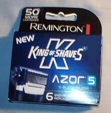 NIB Remington replacement cartridges Azor 5, 5 bladed razor, six pack