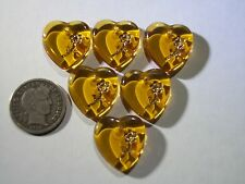 2 Light Topaz 15x17mm Hearts