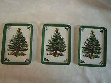 Three Christmas Tree Holiday Melamine Small Trays Mebel Italy