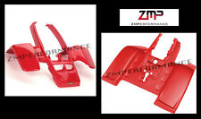 NEW YAMAHA BANSHEE YFZ 350 RED PLASTIC STANDARD FRONT AND REAR FENDER SET