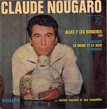 CLAUDE NOUGARO ALLEZ - Y LES BERGERES FRENCH ORIG EP MICHEL LEGRAND