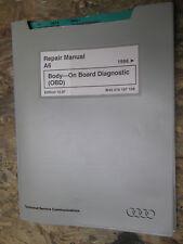 1998 AUDI A6 BODY ON BOARD DIAGNOSTICS OBD FACTORY SERVICE MANUAL REPAIR SHOP