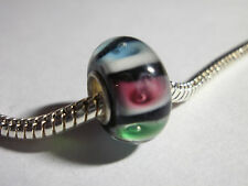 Edler Glas Bead Regenbogen für Armband  0428