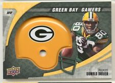 LOT of 4 DONALD DRIVER Helmet Swatch Green Bay Packers Patch 2008 Alcorn State