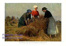 Sheaf binder XL art print 1925 farmer maid harvest wheat by Martin Frost oats +