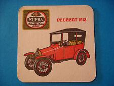 Old Belgian Beer Coaster ~ STELLA ARTOIS Brewery SUPRA Pils ~*~ Peugeot 1913 Car