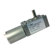 12V 5rpm DC Micro Worm Gear Motor 370 Motor Reversible Right Angle 1/4 in Shaft
