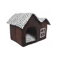 Soft Puppy Cat Kennel Folding Dog House Removable Pet House for Small Medium Dog