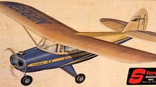 """Sterling TRI-PACER PLANS + PARTS PATTERNS for 58"""" Early RC or UC Model Airplane"""