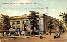 REVBEN McMILLIAN FREE LIBRARY YOUNGSTOWN OHIO POSTCARD 1910