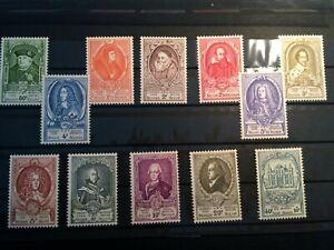 Belgium stamps 1952 World Postal Congress set of 12 Michel 929-940 rare MLH set