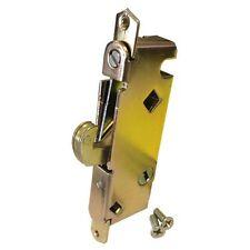 "Sliding Glass Patio Door Lock, Mortise Type, 45 Degree Keyway, 3-11/16"" Screw Ho"