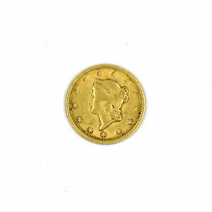 1851 $1 LIBERTY HEAD 90% GOLD COLLECTIBLE US COIN F-VF CONDITION ANTIQUE