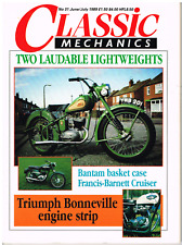 Classic Mechanics 1989 Jun Kawasaki Avenger Francis Barnett  Bantam Bonneville