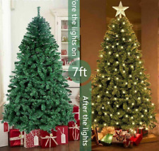 Seven Foot Big Artificial Christmas Tree With Automatic LED Lights PVC Branches